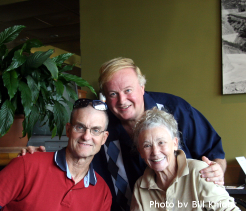 Yours Truly with David and Georgina at Lunch Photo by Bill Knight