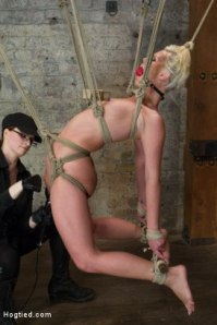 Being a bondage model at Kink can put a strain on the system. Photo courtesy of Kink.com