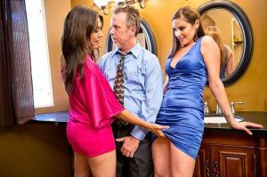 Waiting for the shoot to begin, Raylene, Tom Byron, and Samantha Ryan.