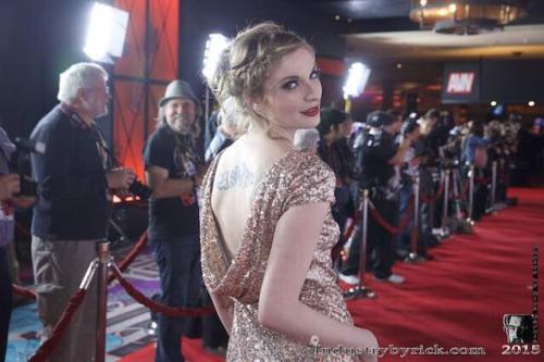 Ela on AVN Red Carpet, 2015. Photo courtesy of Ela Darling