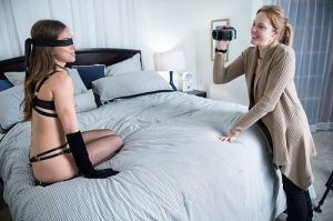 Blindfold in place, ready to shoot. Photo courtesy of Jeff Koga