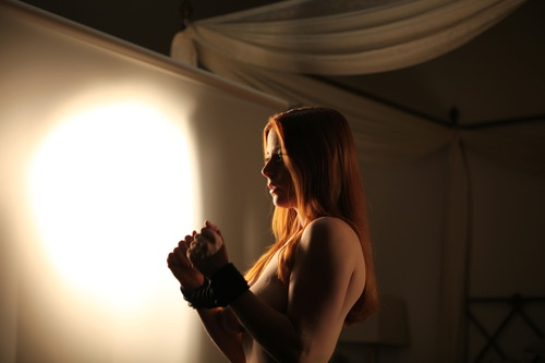 Emma under the glare of her demons. Photo courtesy of Jacky St. James