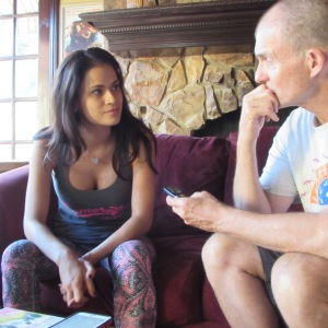 The thoughtful and provacative Vanessa Veracruz talks with me.