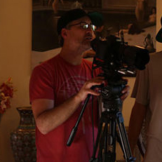 The director at work. Photo courtesy of AVN
