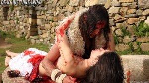 The tribal chieftain (Jac Avila) embraces Nahara