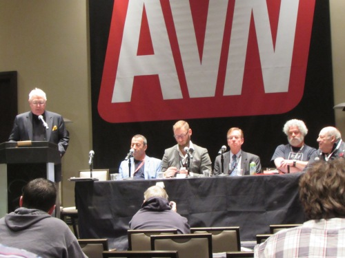 Clyde DeWitt, John Stagliano, Eric Leue, J Michael Murray , Reed Lee, and moderator Mark Kernes