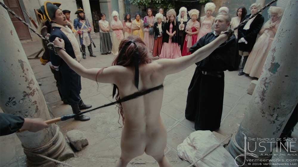 Movie scene naked and flogged